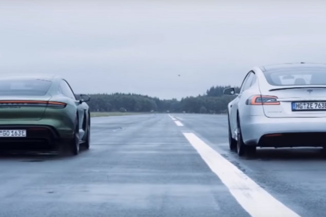 Porsche Taycn Turbo S против Tesla Model S P100D