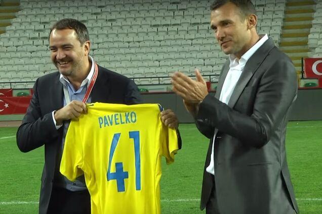 Андрей Павелко и Андрей Шевченко