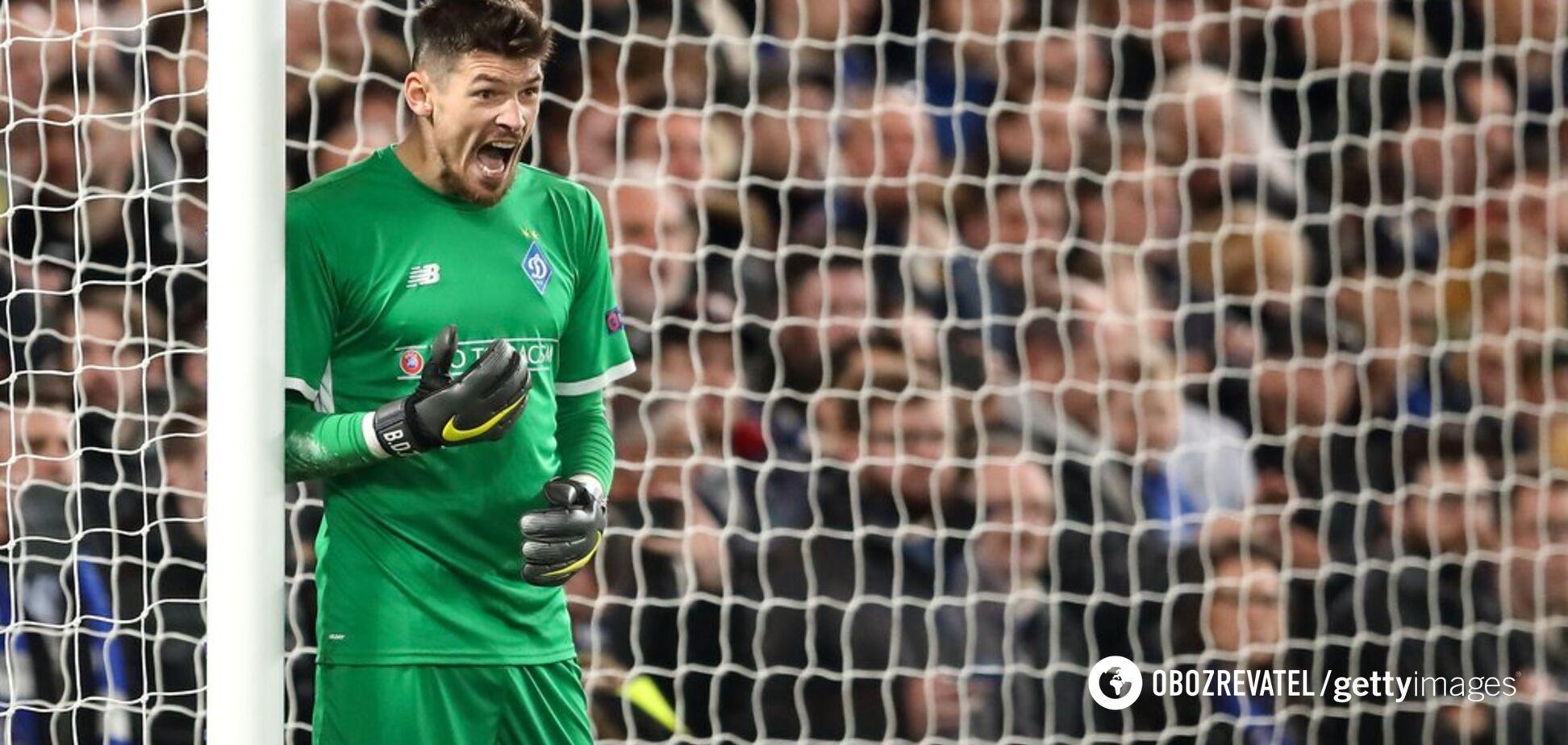 'Динамо' лишилось основного вратаря за несколько минут до начала матча в Лиге Европы