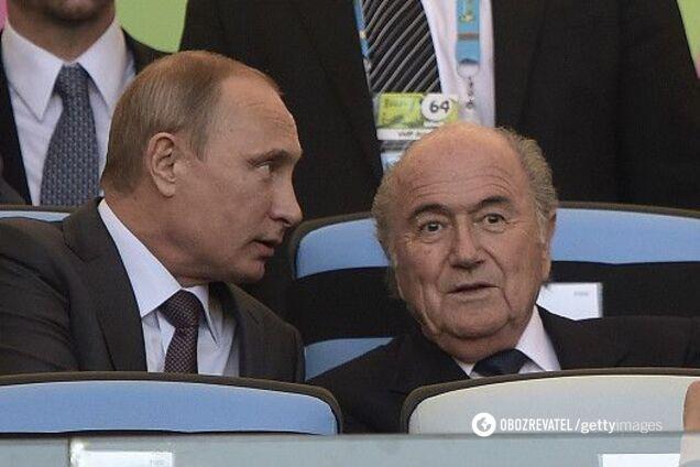 Владимир Путин и Джозеф Блаттер