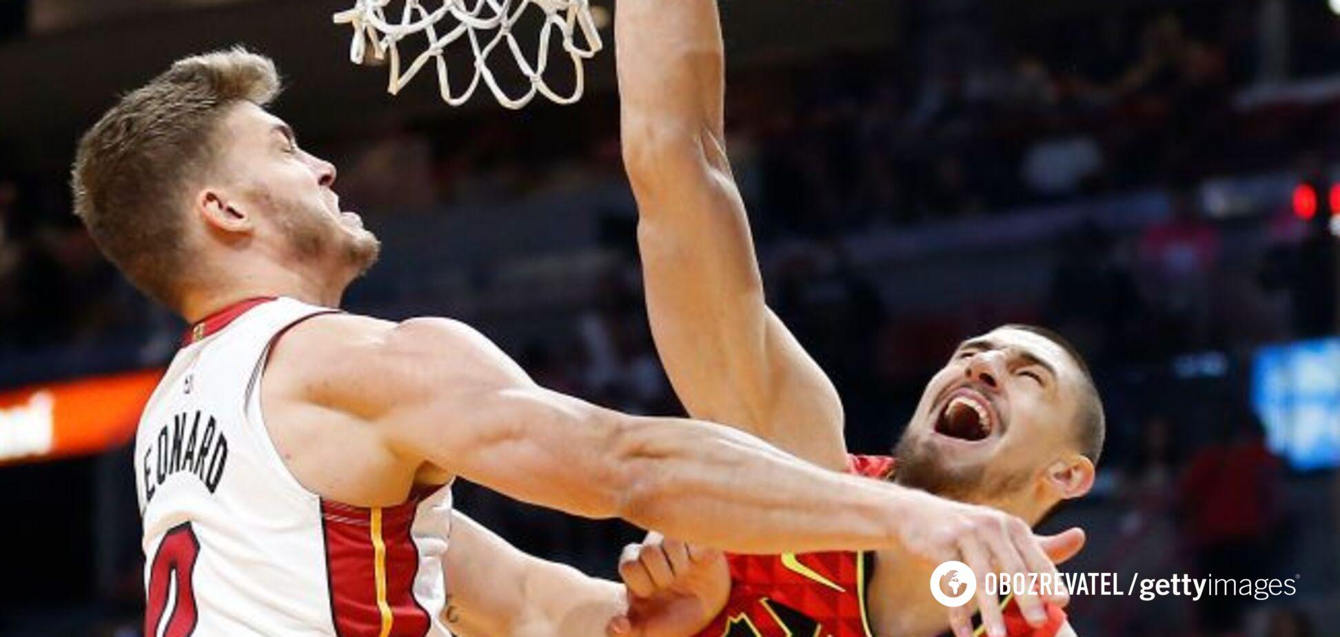 Украинец Лэнь исполнил элегантный трюк в матче НБА