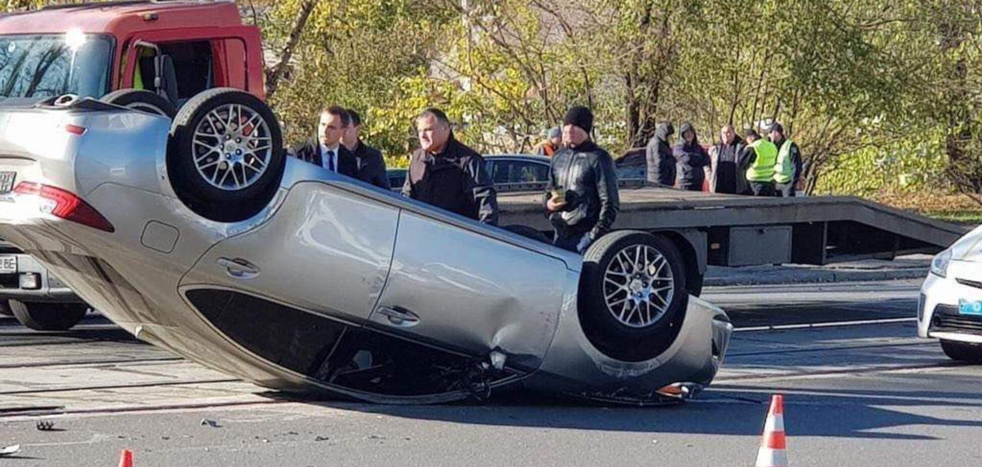 'Машина перевернулась': в Днепре прокурор устроил 'пьяное' ДТП