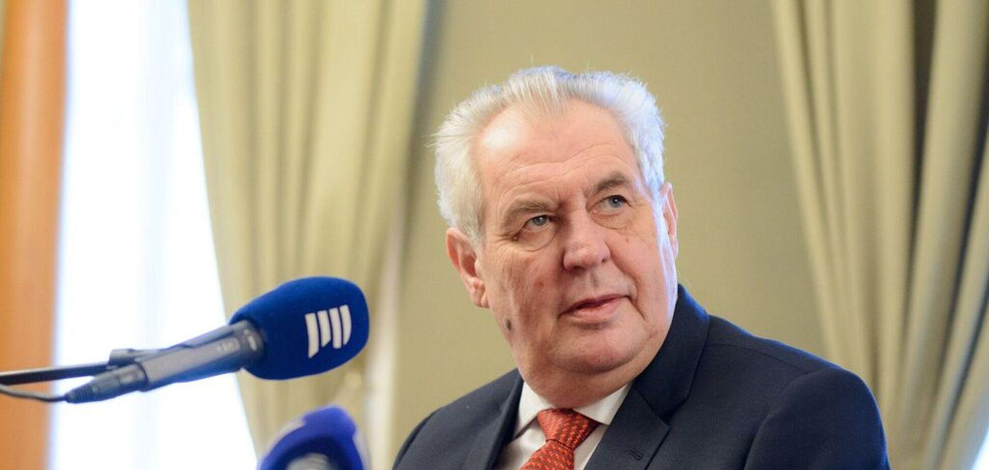 Земан визнав Крим частиною Росії