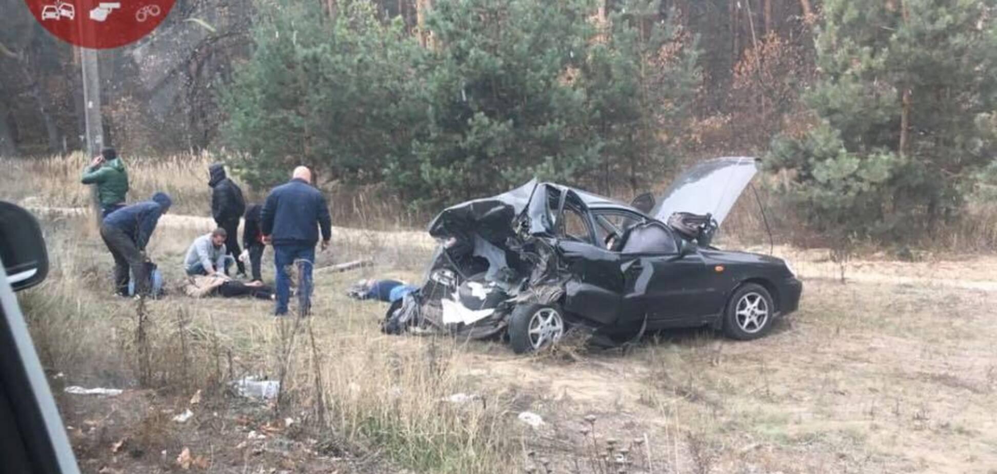 В Киеве произошло ДТП с погибшим и пострадавшими