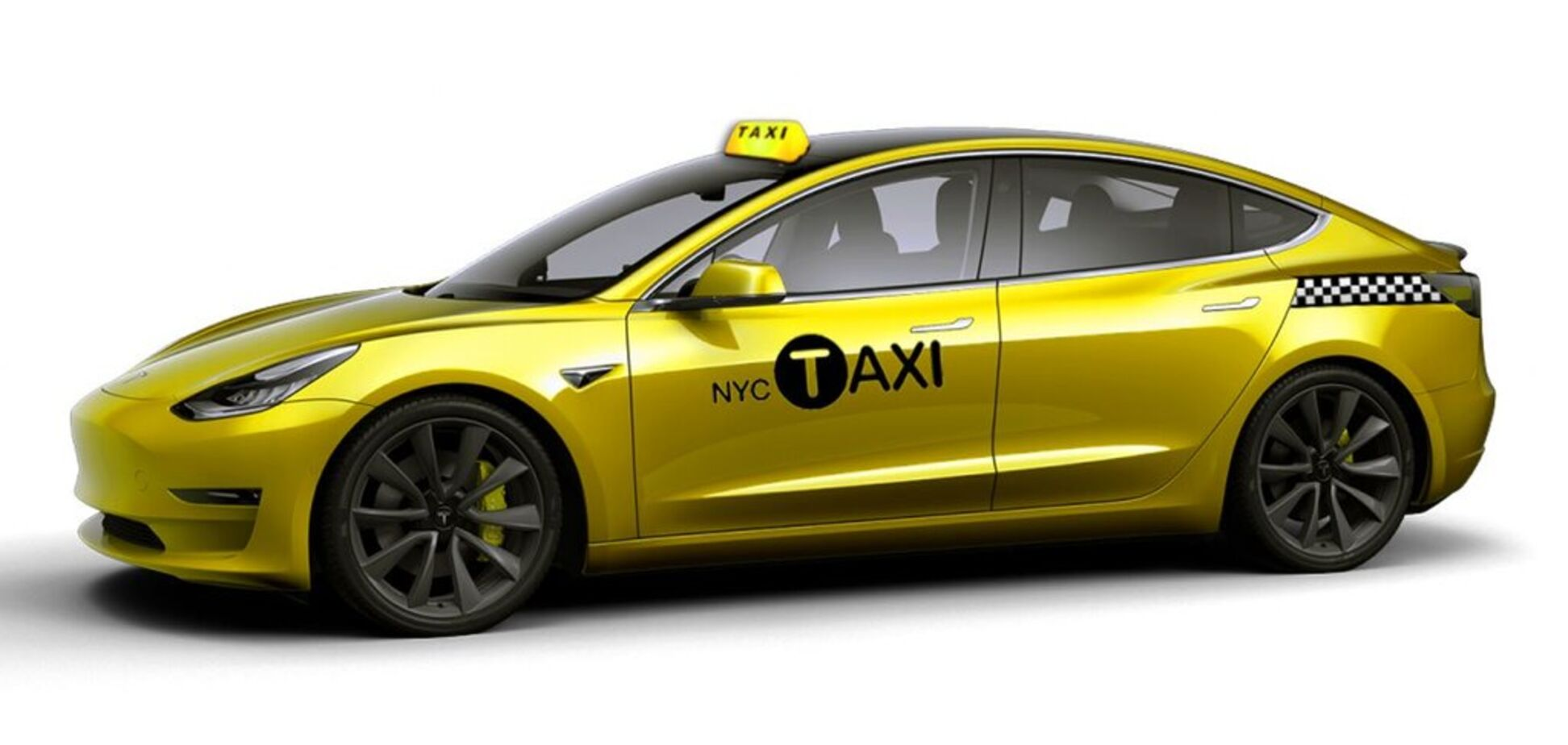 Впервые в истории: в США таксисты пересядут на электрокары Tesla