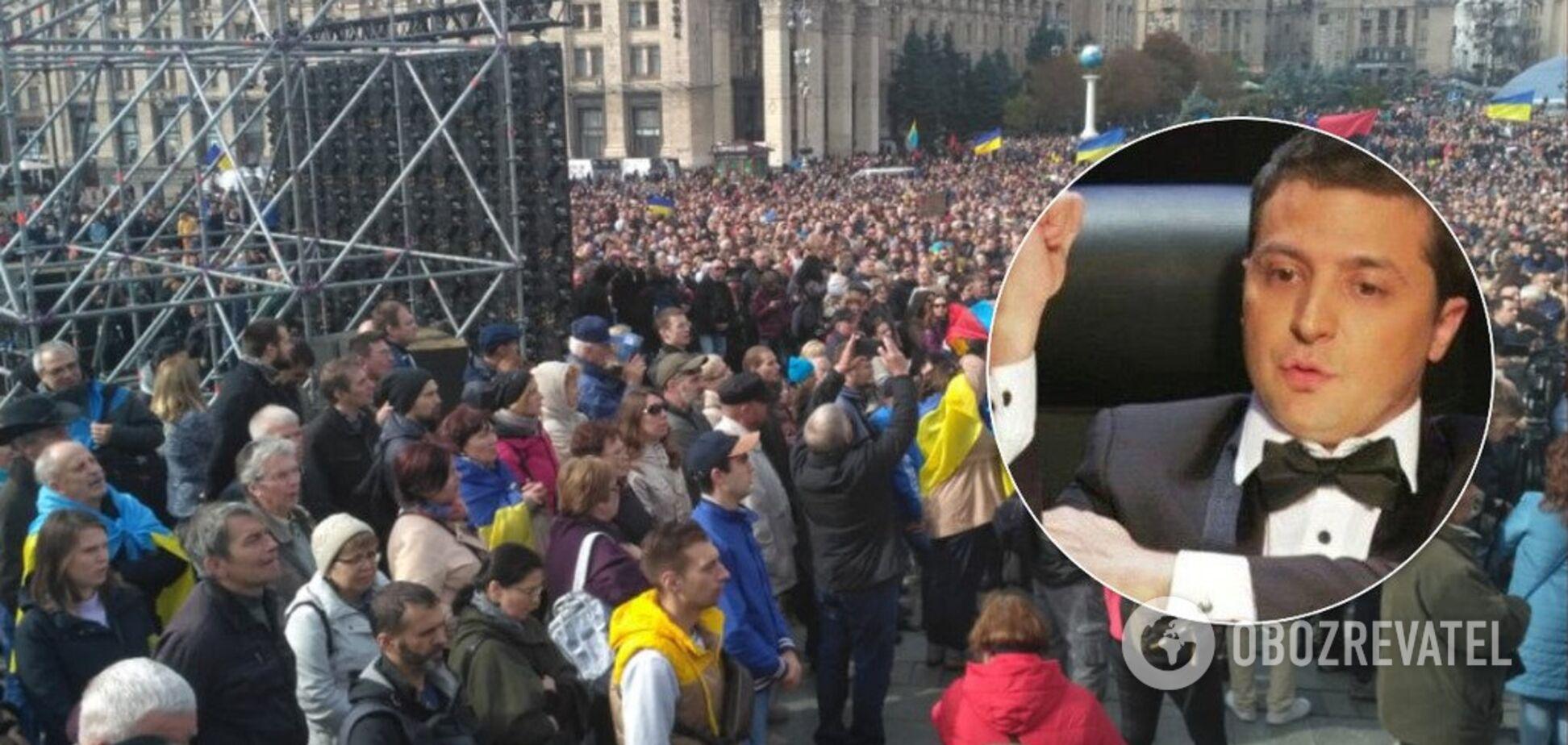 'Донбасс и Крым должны вернуться!' На вече озвучили условие Зеленскому