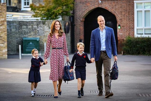 Шарлотта, Міддлтон, Джордж і принц Вільям