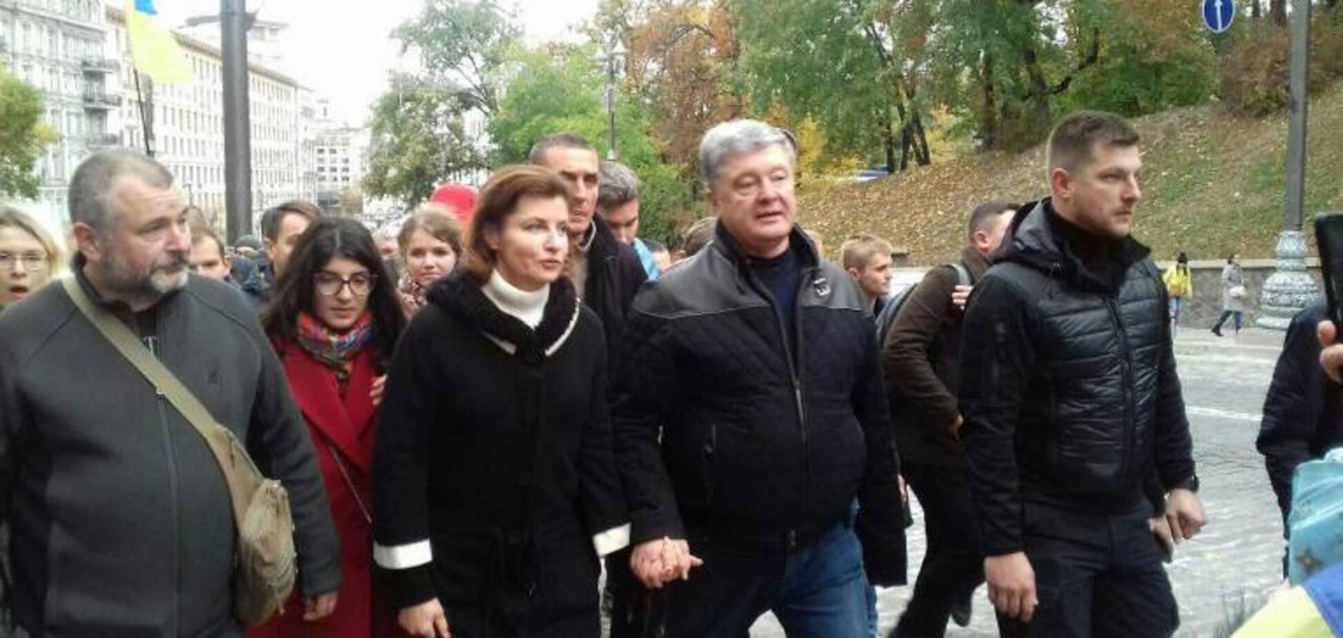 'Народ знає, що робити': Порошенко приєднався до всеукраїнського віче 'Зупинимо капітуляцію!'