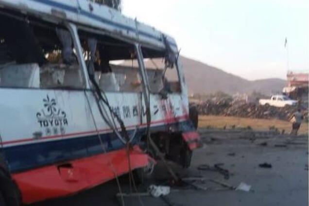 Фото с места теракта