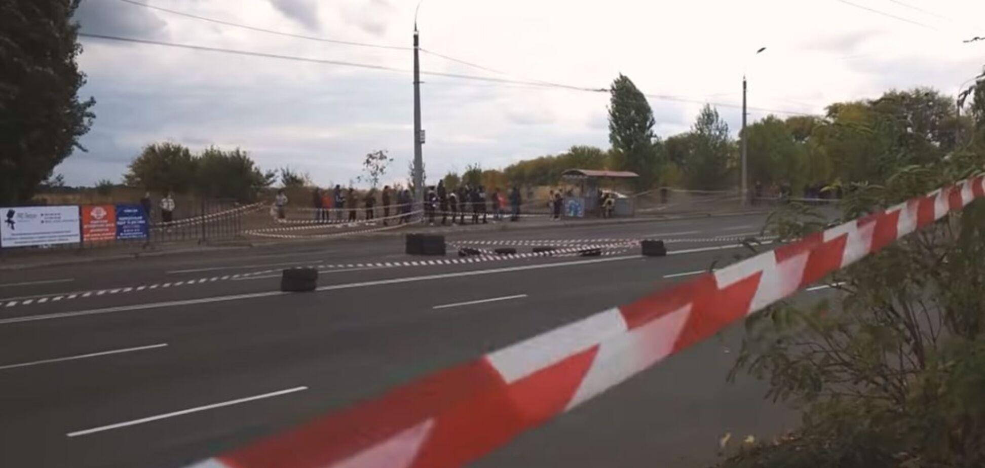 У Черкасах учасник автоперегонів збив глядача: момент потрапив на відео. 18+