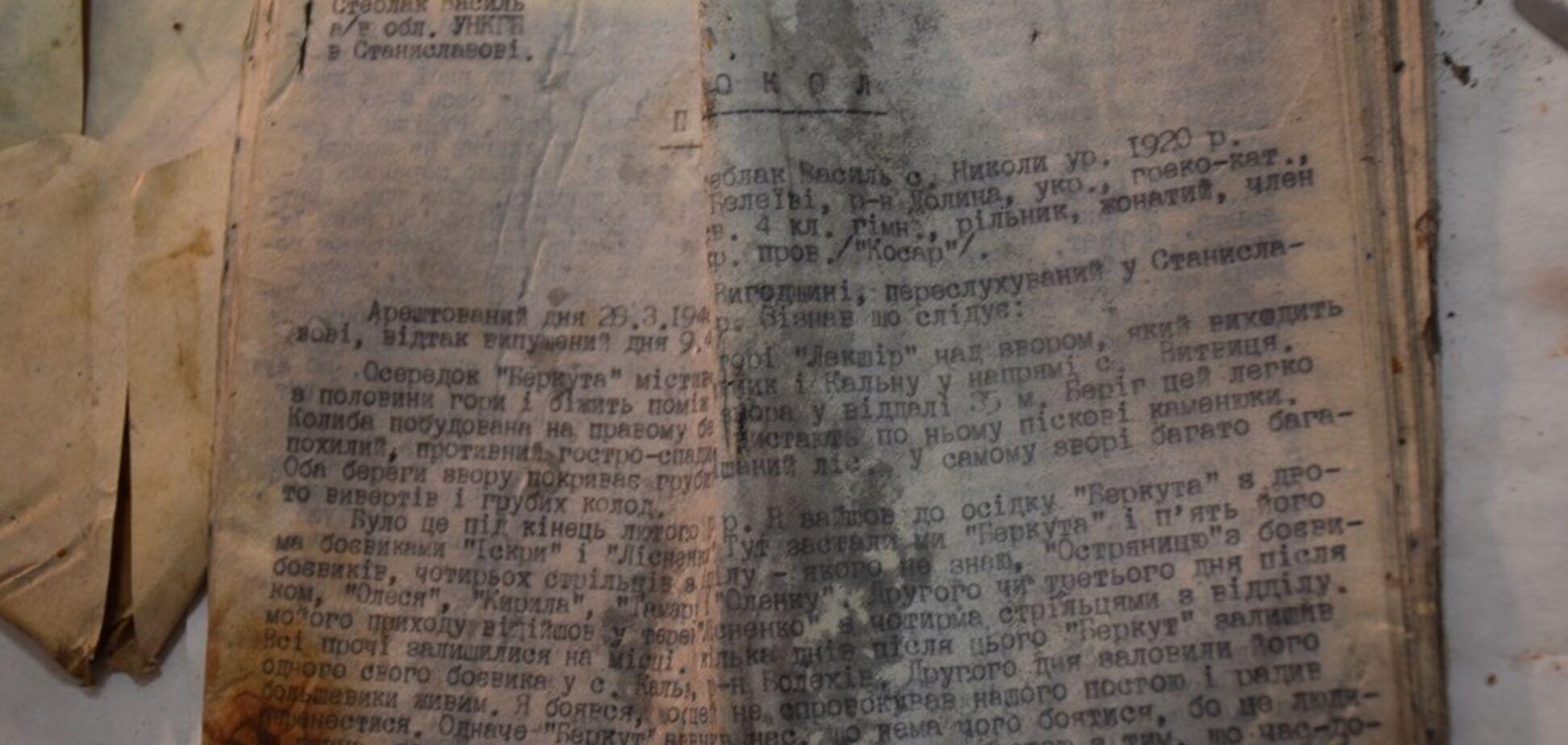 Секретні архіви УПА знайшли в лісі на Прикарпатті