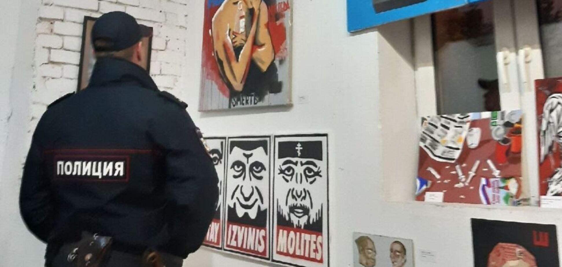 Полицейский на выставке
