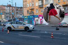 У Дніпрі жінка кинулася під авто: момент потрапив на відео