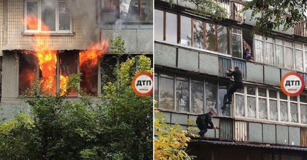 ''Дети вылазят из окон'': в Киеве вспыхнул масштабный пожар в жилом до