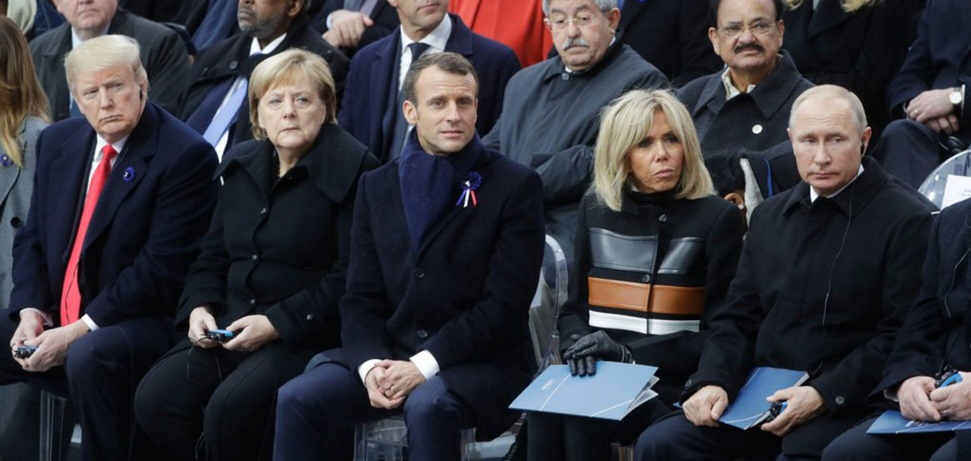 Владимир Путин, Дональд Трамп, Еммануель Макрон и Ангела Меркель. Источник: life.ru