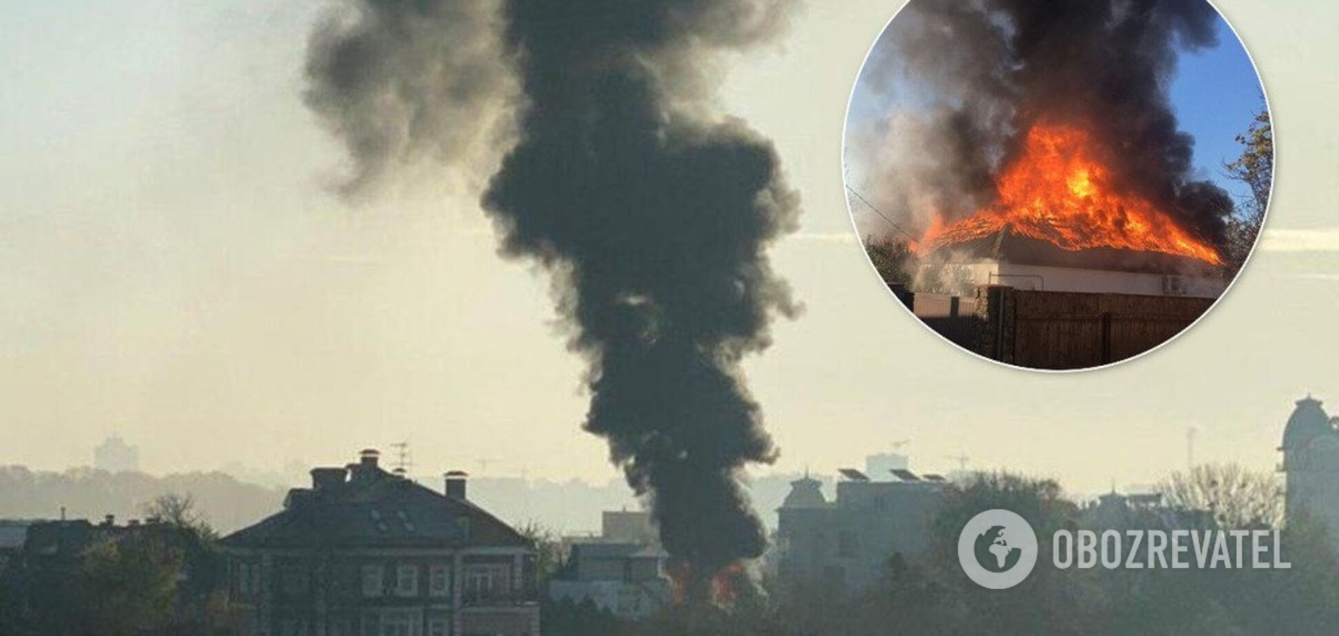Дым виден со всего города: в Киеве возник масштабный пожар
