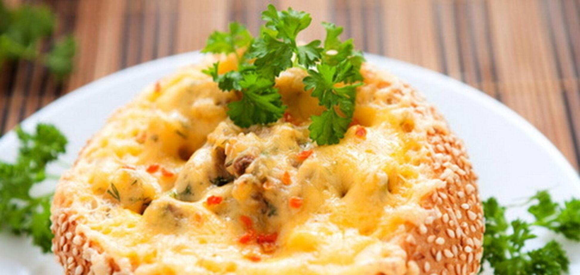 Рецепт сказочно вкусной закуски с грибами и сыром