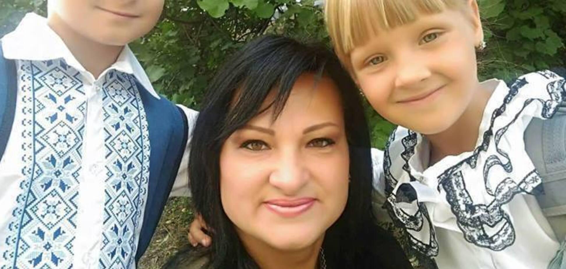 Яна Червоная с детьми