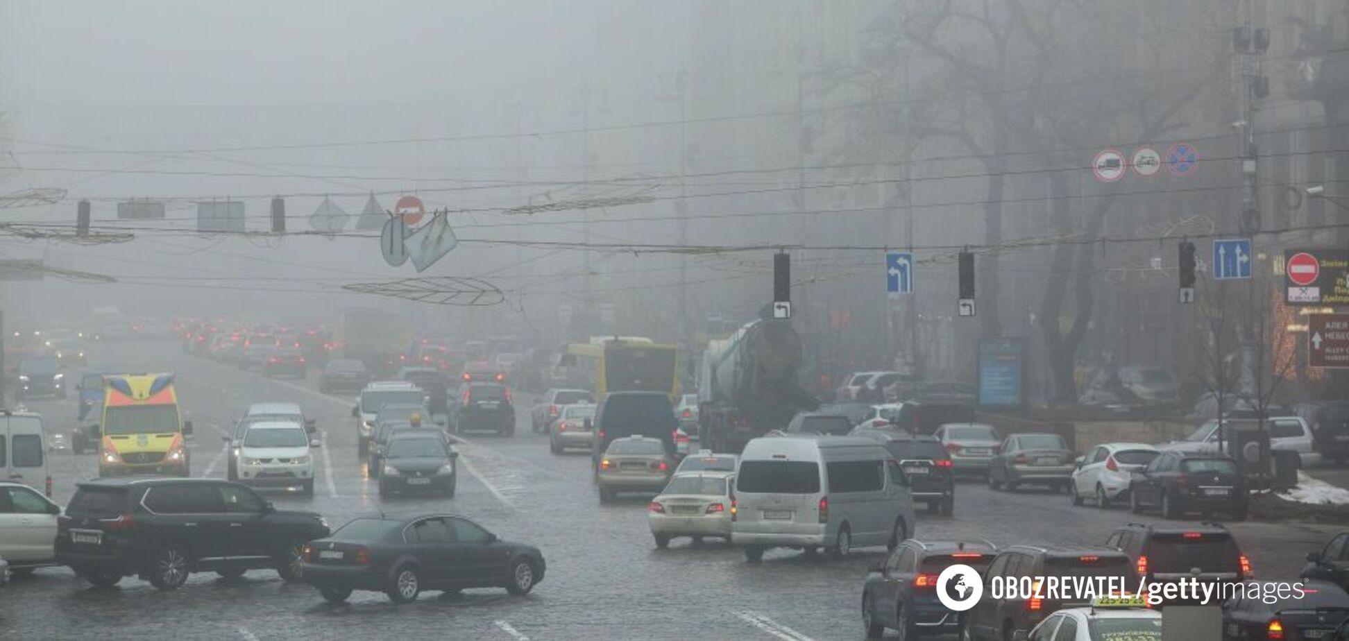 Київ через сильний дощ скували затори: карта проїзду