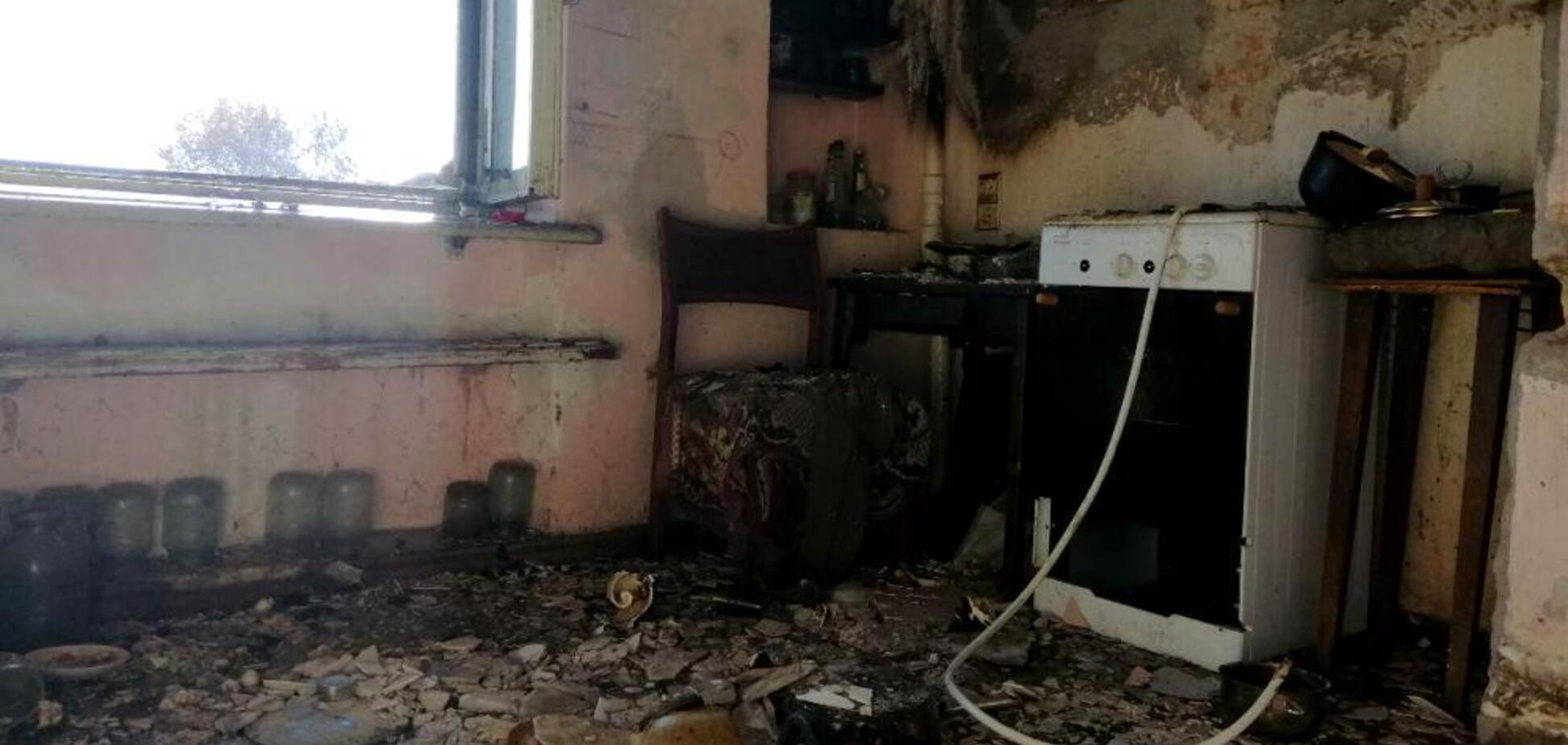 В Одессе едва не взорвался дом из-за газового котла: фото пожара