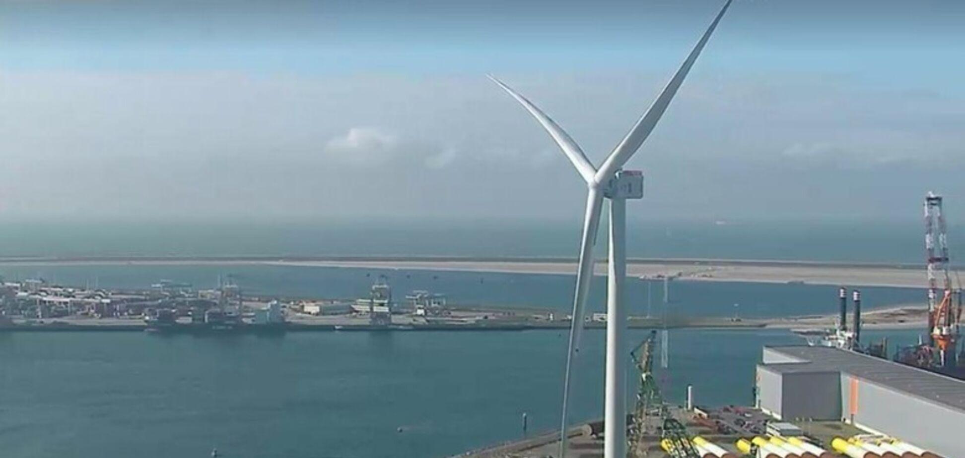 В Нидерландах запустили самый мощный ветрогенератор в мире: фото и видео