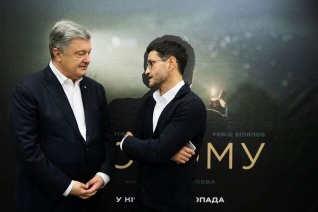 """Петро Порошенко та Ахтем Сеітаблаєв на показі фільму """"Додому"""""""
