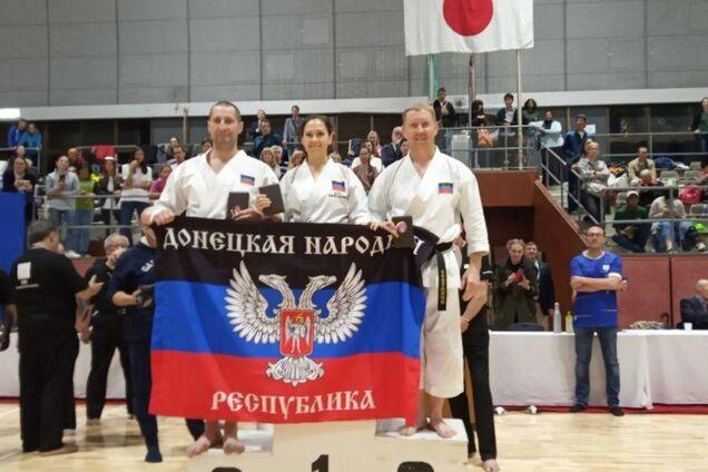 Флаг так называемой ДНР на соревнованиях в Токио