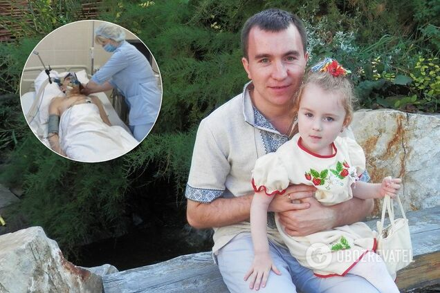 Олег Якуц із донечкою Даринкою (архів)