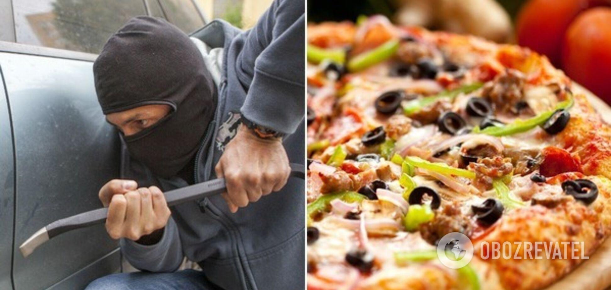 На Днепропетровщине автомобильного вора выследили благодаря пицце