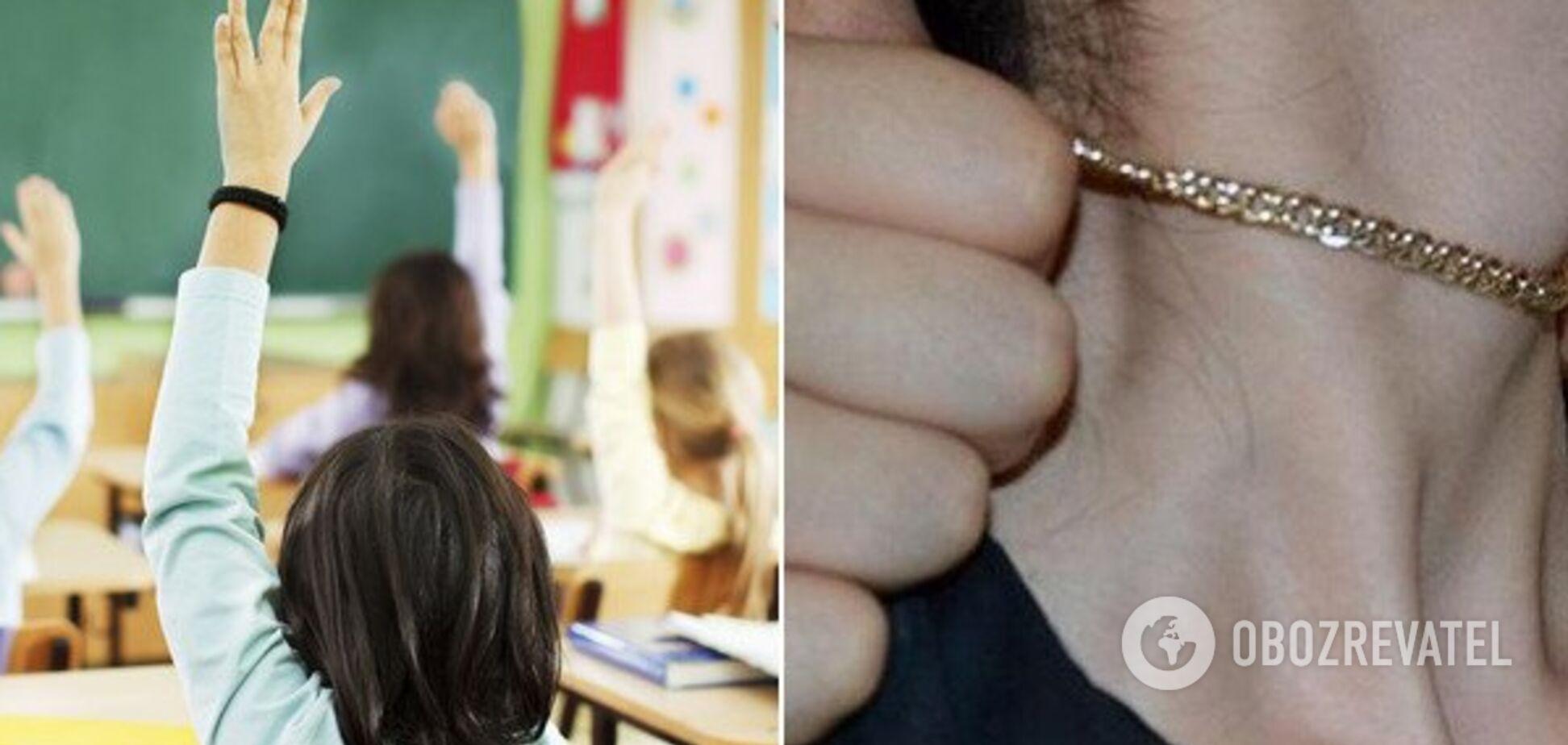 УКиєві жінка нахабно пограбувала дитину у школі