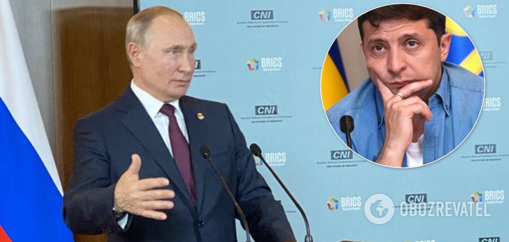 'Треба домовлятися': Путін зухвало пригрозив Зеленському та висунув вимоги щодо Донбасу