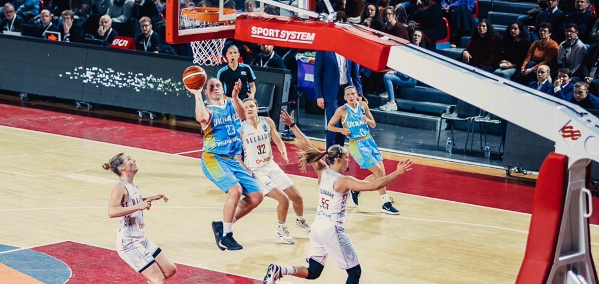 Украинки с драматичной потерей уступили на старте отбора Евробаскета-2021