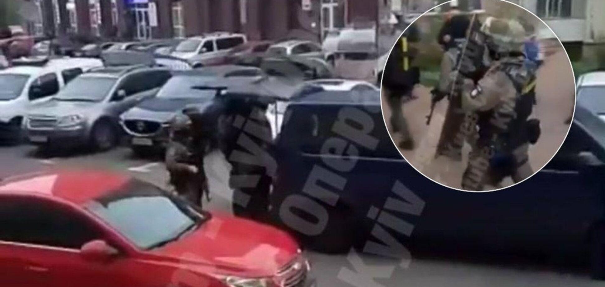 В Киеве устроили штурм квартиры