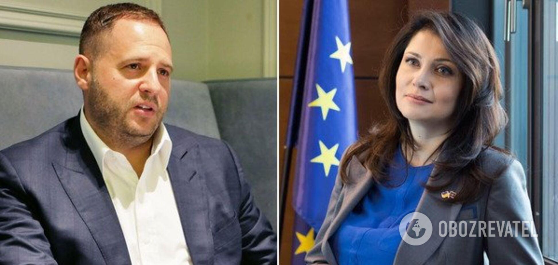 Андрій Єрмак та Ірина Фріз