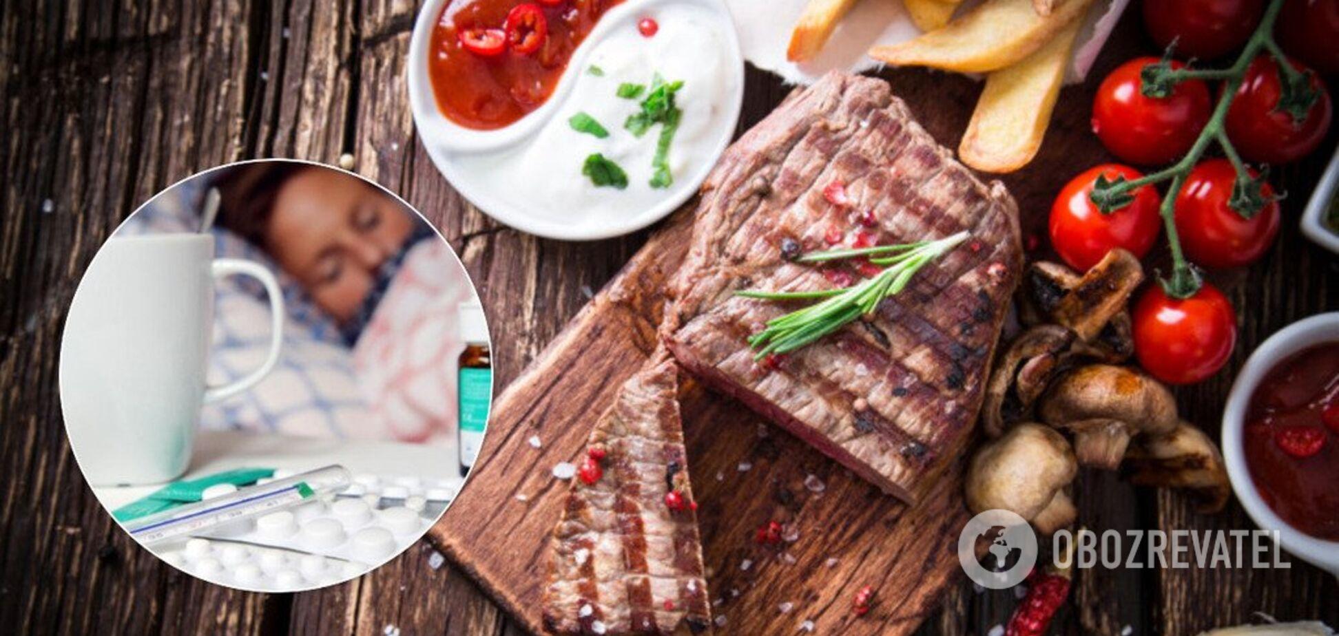Названодієтувід грипу: які продукти їсти