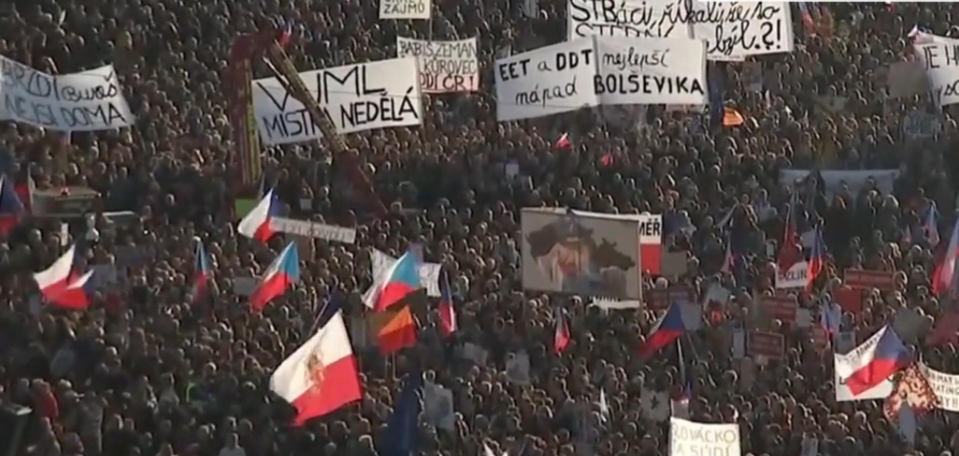 Протест в Праге
