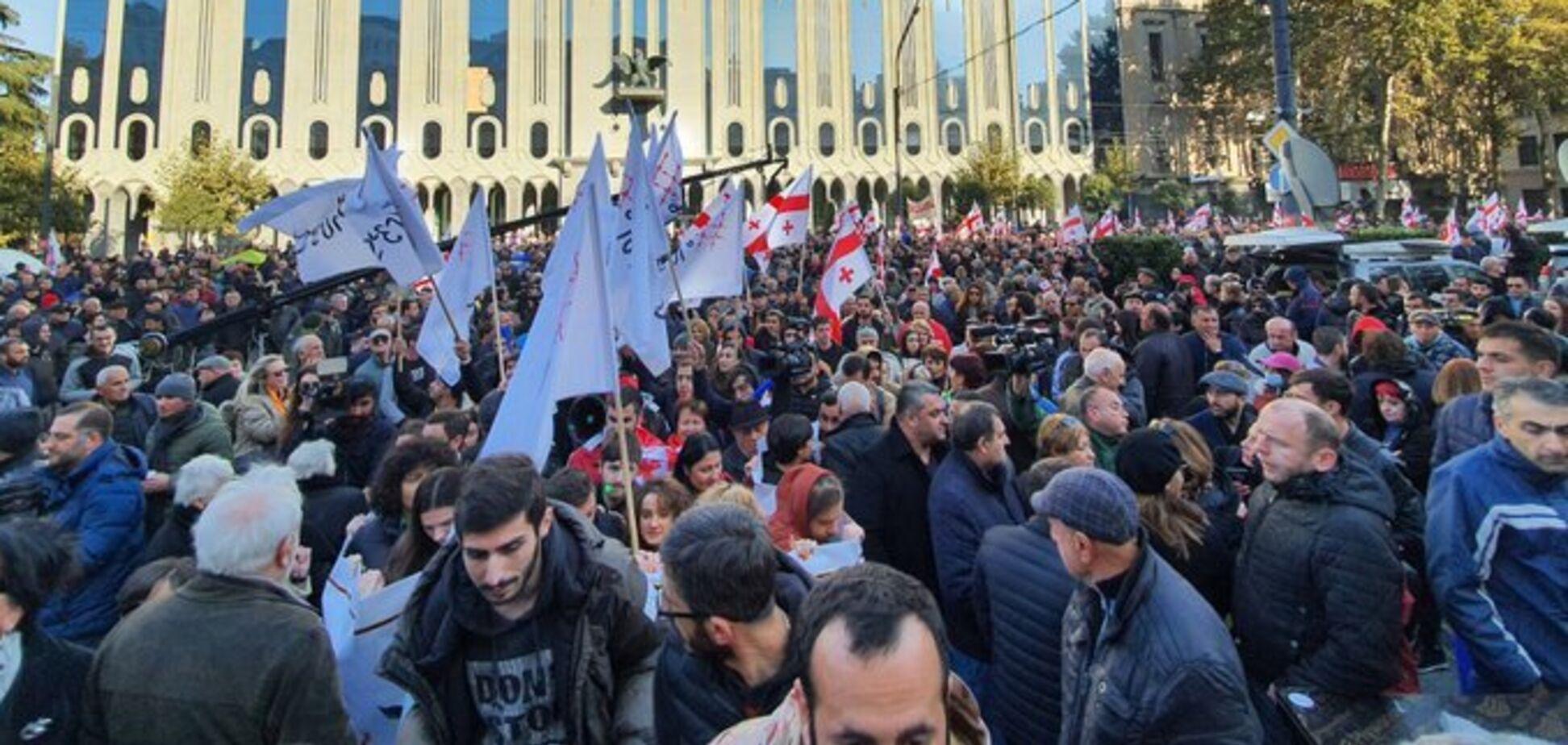Протест в Тбилиси. Источник: УП