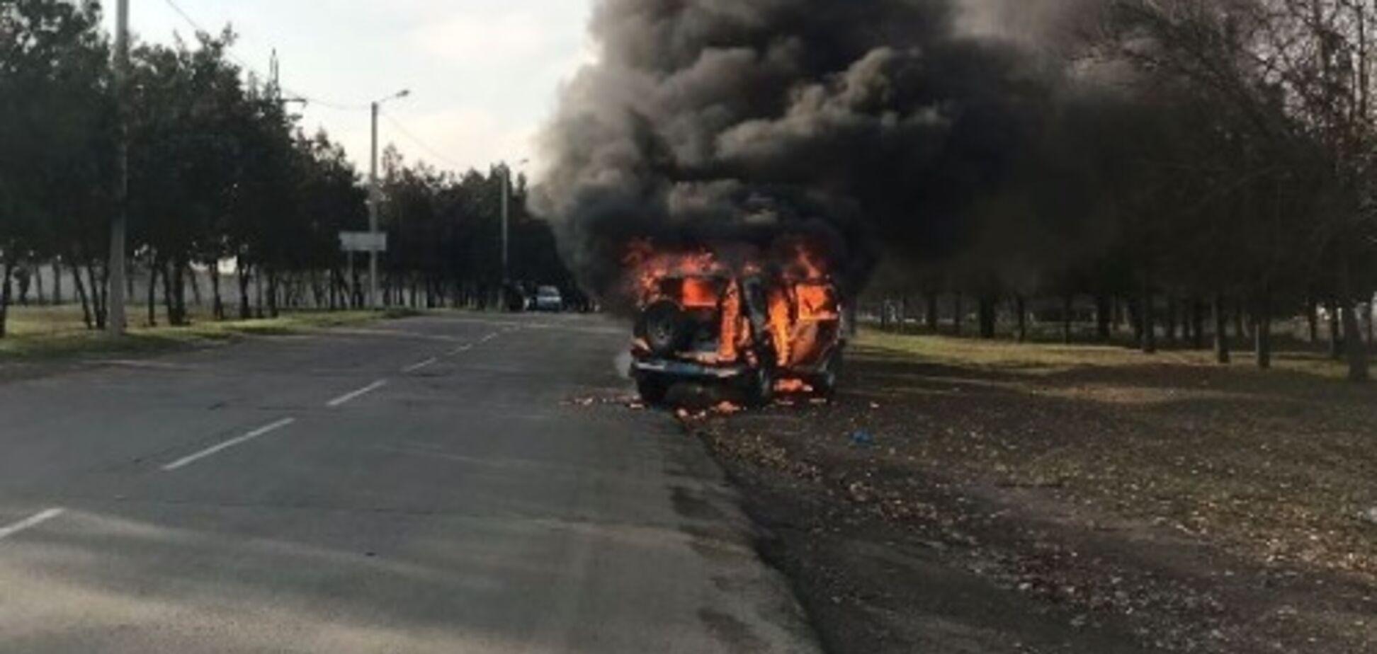 Под Одессой загорелось авто с полицейскими: подробности жуткого ЧП