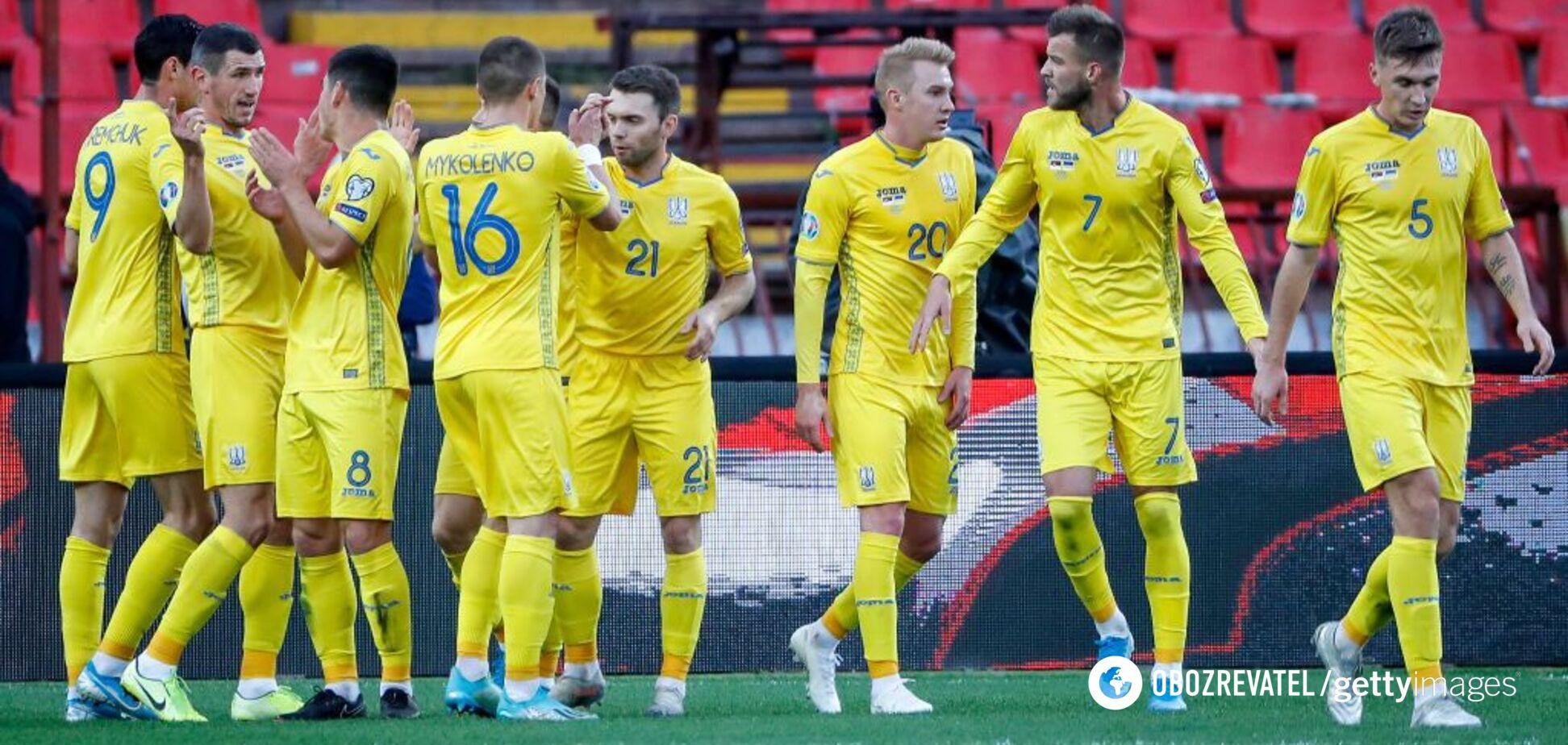 Круг сузился: Украина узнала еще 8 возможных соперников на Евро-2020
