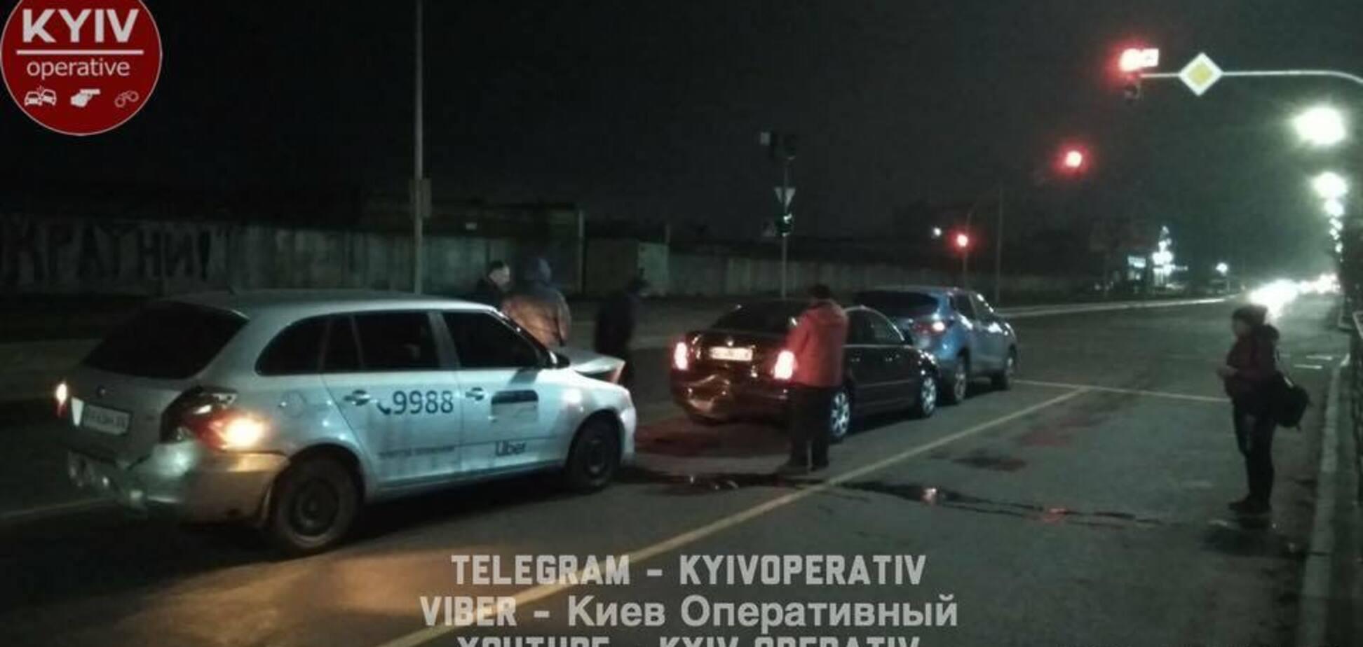 В Киеве пьяный водитель Uber совершил несколько ДТП