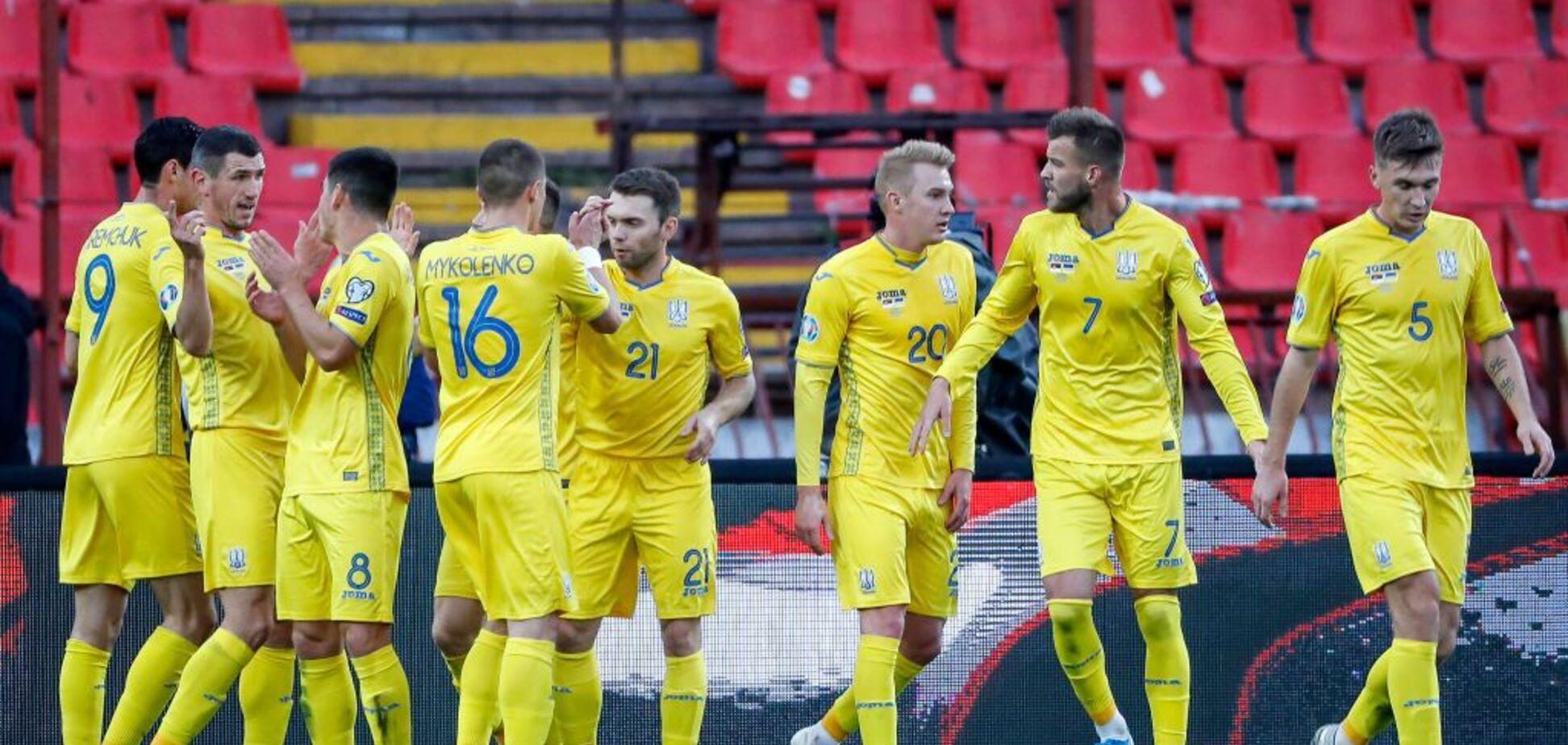 Український прапор над 'Газпромом': опубліковано знакове фото з матчу Сербія – Україна