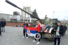 Танк, Косово, 'русскій мір': репортаж із вирішального матчу України в Сербії