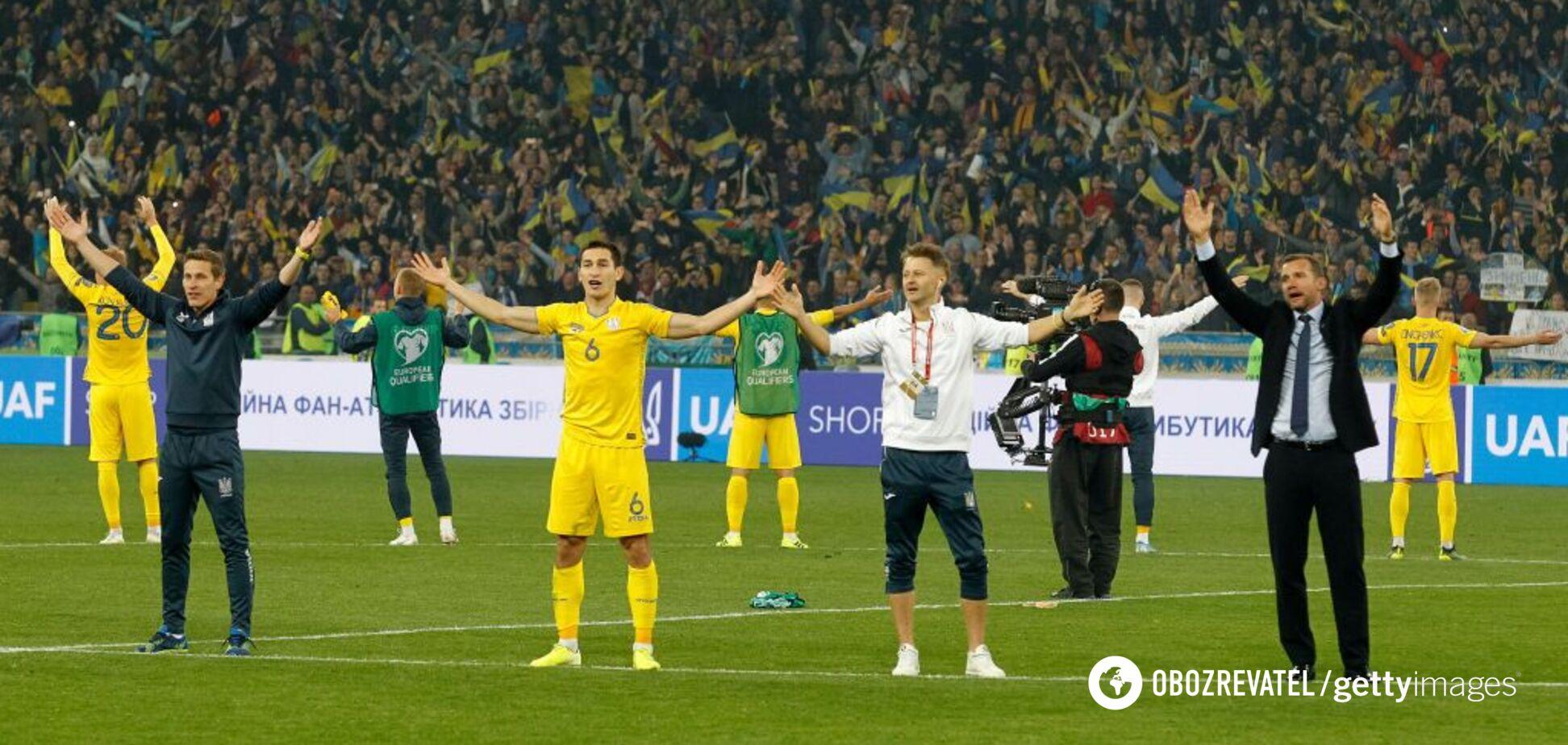 Определились все возможные соперники Украины на Евро-2020