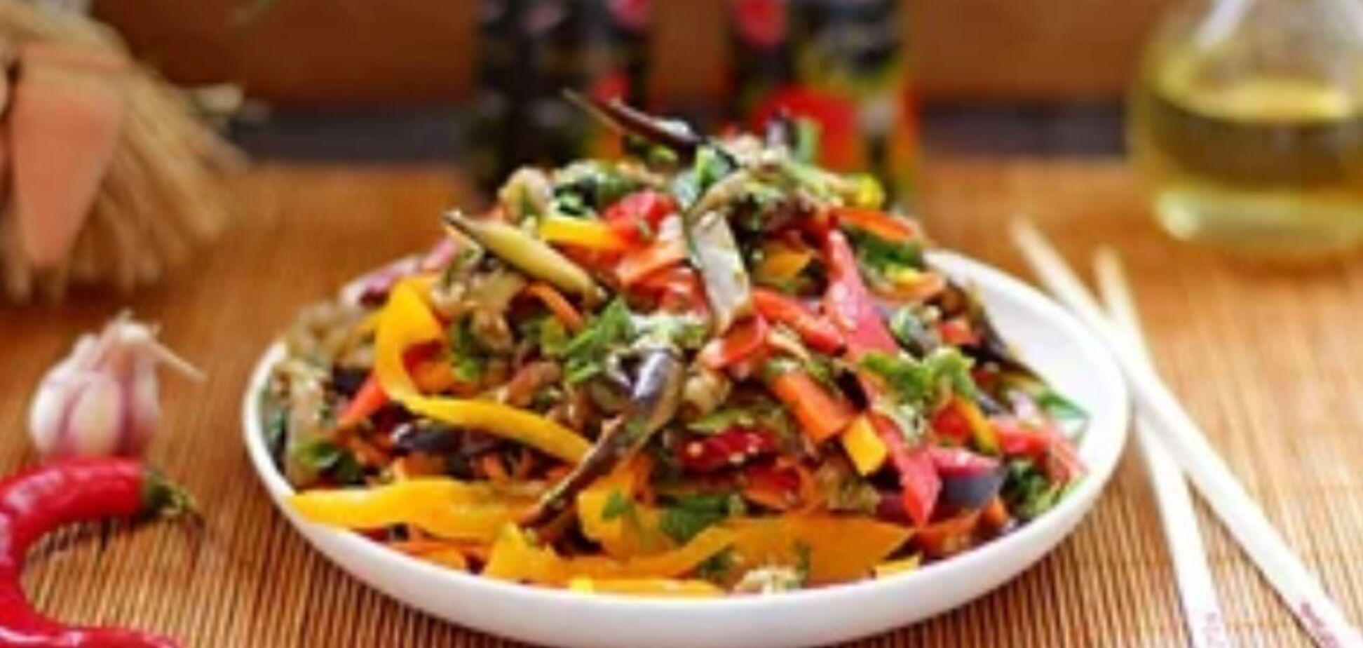 Рецепт бесподобного салата с баклажанами