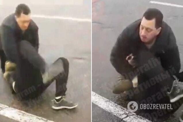 В центре Киева водители устроили жесткую резню после ДТП