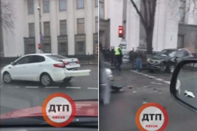 В Киеве возле Рады произошло тройное ДТП с пострадавшими