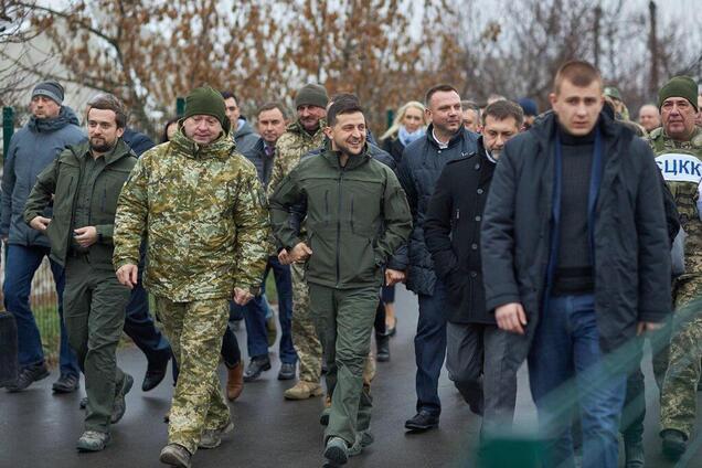 Володимир Зеленський у Станиці Луганській