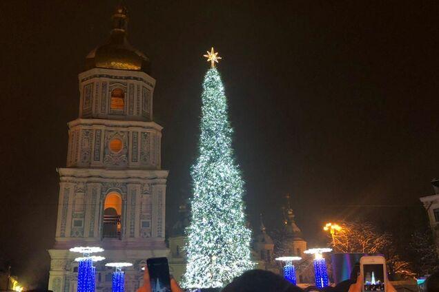 Главная елка Киева в прошлом году