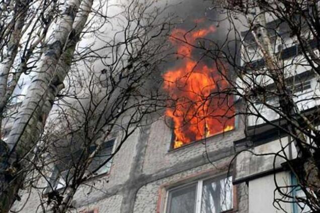 Под Днепром вспыхнуло общежитие