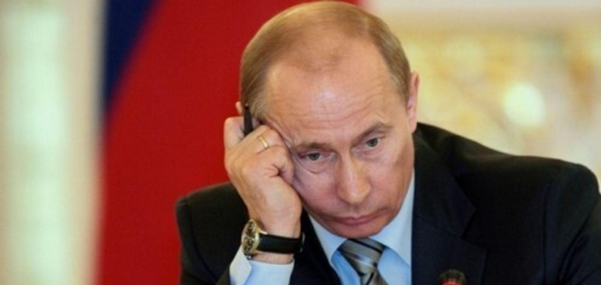 Сумний Путін в поїзді став героєм мемов